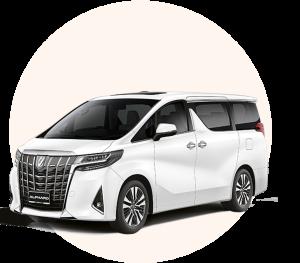 Sewa mobil Toyota Alphard Transformer murah di bali